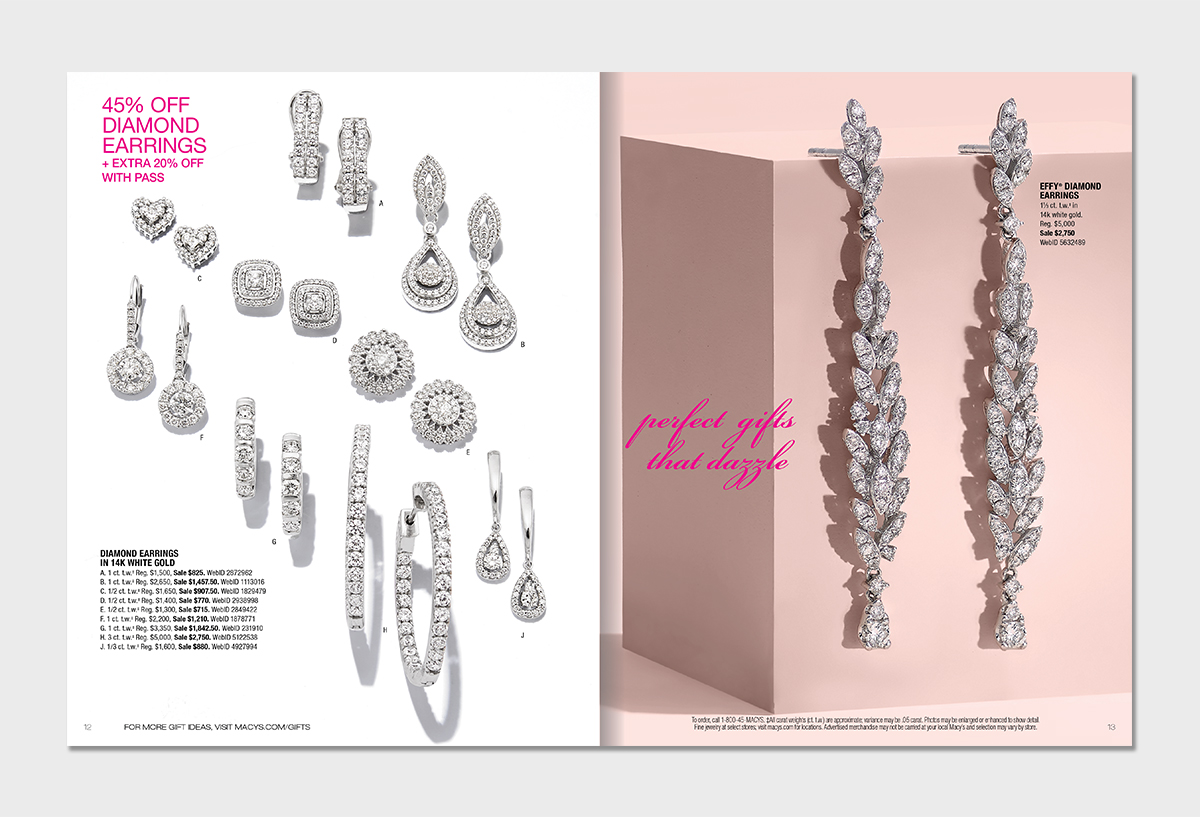 Macy S Direct Mail Book For The Valentine Jewelry As Part Of Spring 2018 Campaign Concepted Layouts And Compositions Art Directed Photoshoot